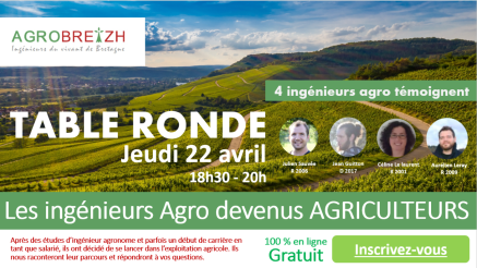 Table ronde 22 avril - Agro-agriculteurs
